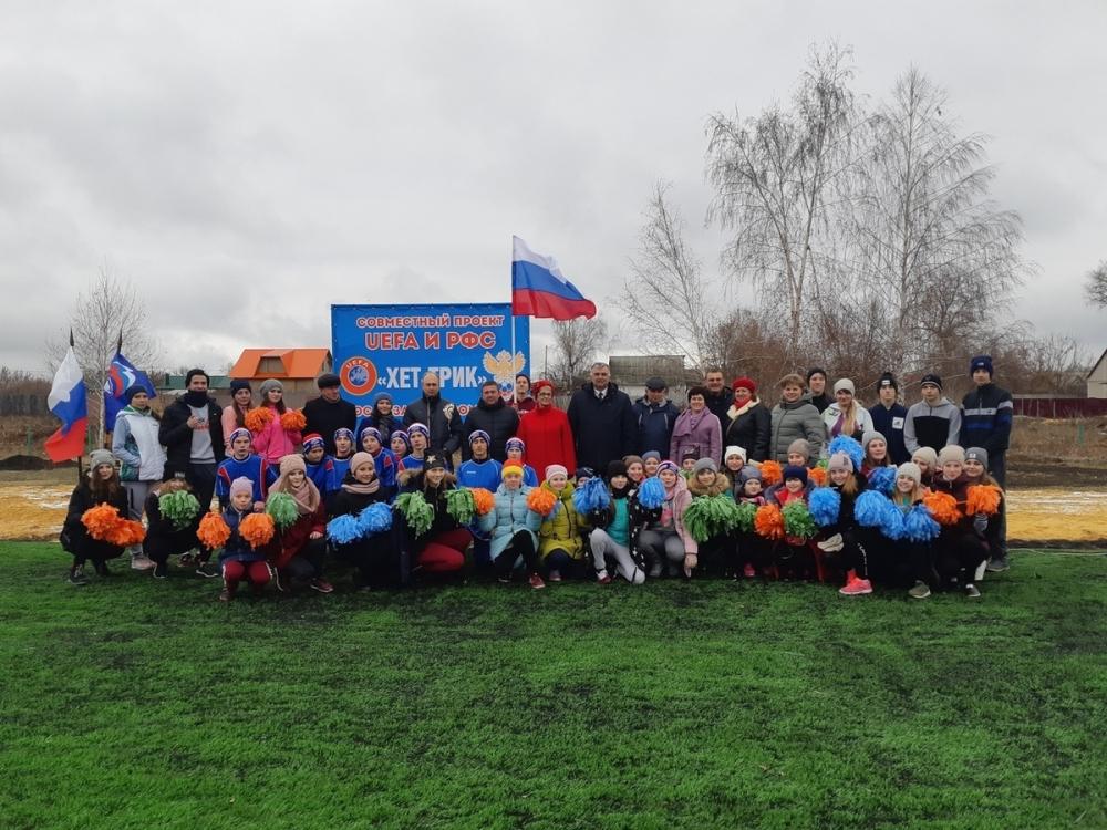 Для будущих чемпионов УЕФА в Комсомольце построили новое футбольное поле
