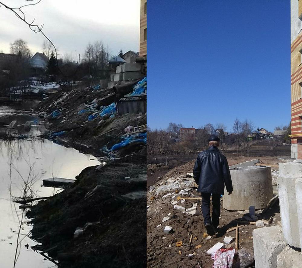 Строители дома в Рассказово на замечания реагируют: если мусор и был, то его убрали