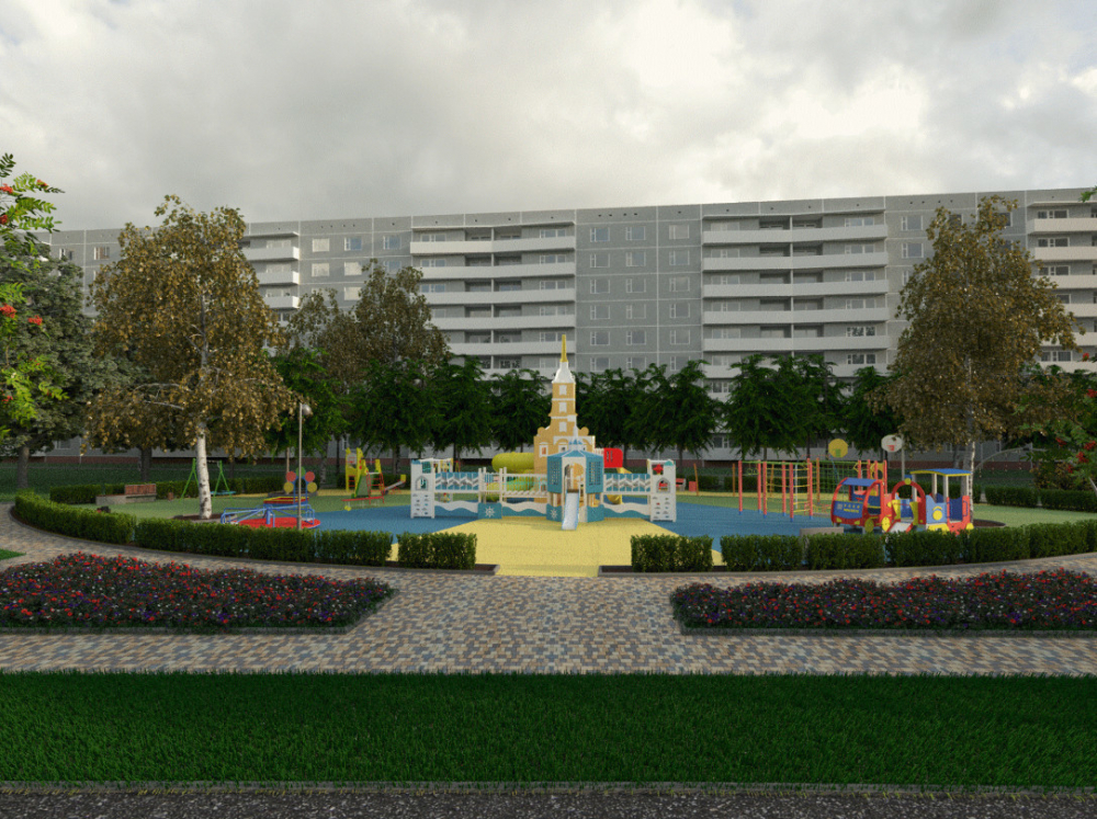 С детским парком-крепостью на Набережной снова придётся попрощаться