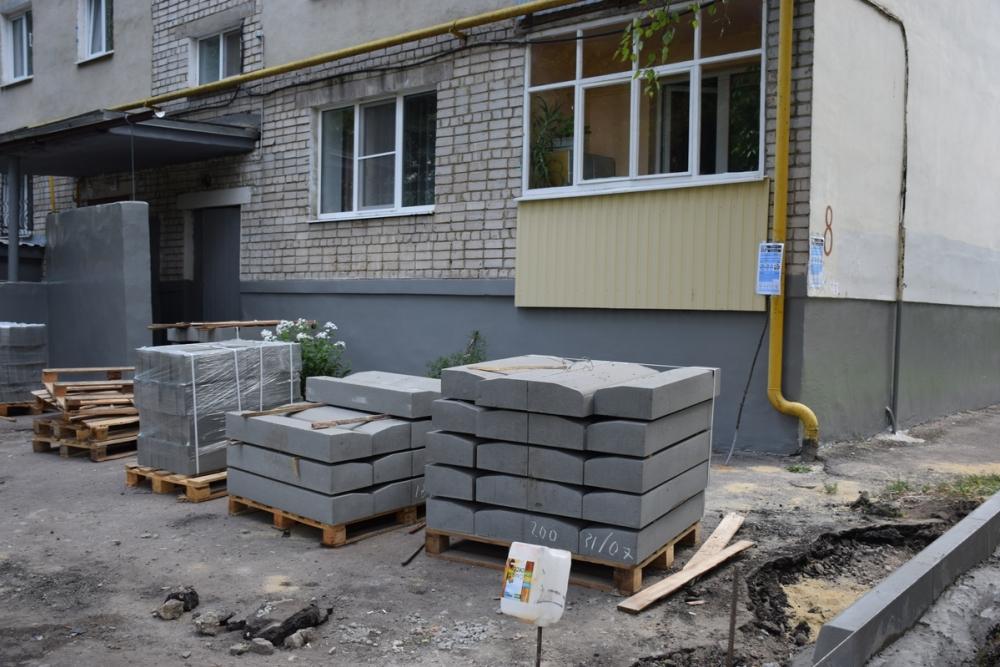 Благоустройство дворов Тамбова в рамках федерального проекта продолжается