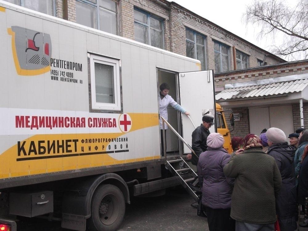 Выездные медицинские обследования населения проходят в Первомайском районе