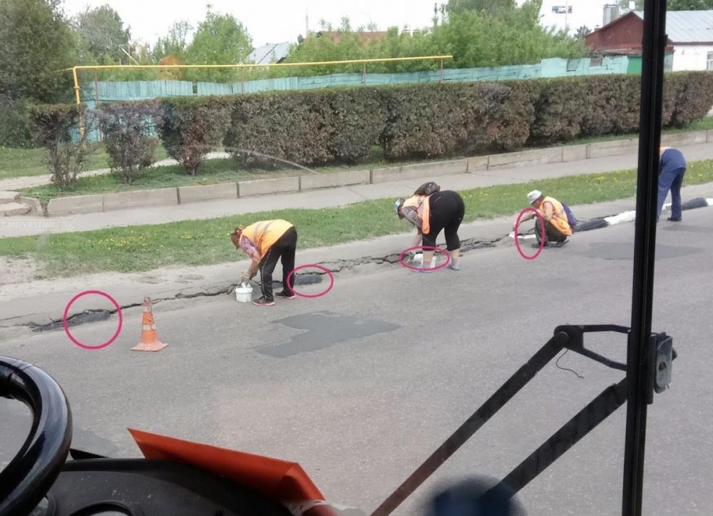 Тамбовское ноу-хау в окраске земли «под бордюр» оценили пользователи сети Интернет