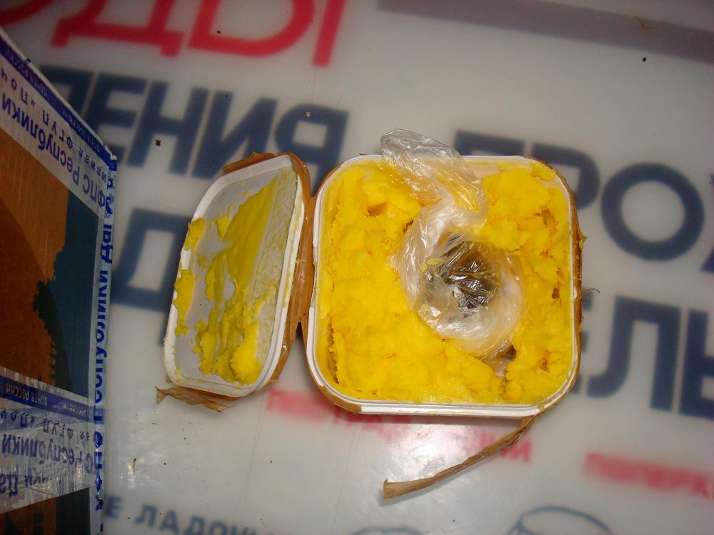 Одному из осужденных тамбовской исправительной колонии пытались передать телефон в топлёном масле