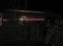 Пожар в Сосновке лишил жителей сарая
