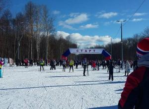 На лыжном стадионе «В парке «Дружбы» прошла «Лыжня России»-2017