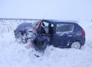 Водитель французской иномарки спровоцировал массовую аварию на трассе в Притамбовье
