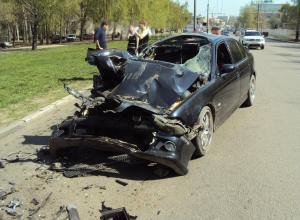 Отвлекся и превратил машину в груду металлолома 26-летний тамбовчанин