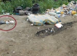 Труп младенца был найден на свалке в Строителе
