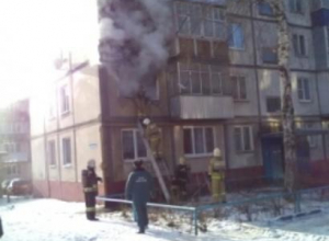 В огне погибли отец и сын
