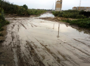 Дождливым летом 2017 дороги в микрорайоне Телецентр превращаются в непролазные тропы