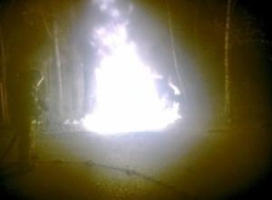 В Мичуринске сгорел Lexus