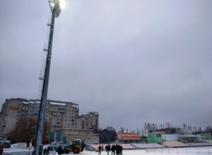 Да будет свет! На стадионе «Спартак» состоялось пробное включение софитов
