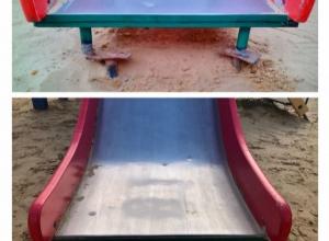 Аттракцион травм на детской площадке «исправляется» на глазах тамбовчан
