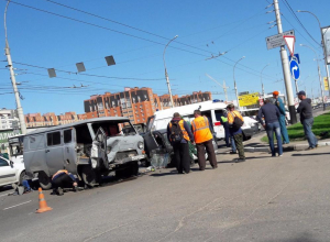 Страйк: три машины столкнулись в центре Тамбова