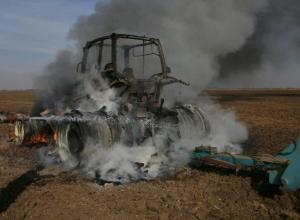 Два трактора сгорели в Жердевском районе