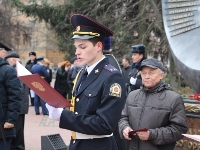 Тамбовские кадеты дали торжественную клятву у мемориала «Солдатам правопорядка»