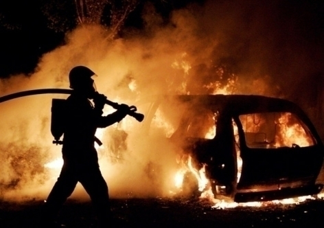 ВТамбове сгорел автомобиль «BMW X5»