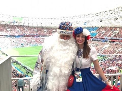 Тамбовский Дед Мороз не смог пропустить футбольное лето