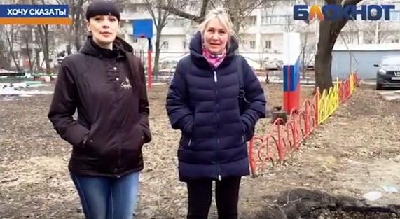 Жители обеспокоены огромной ямой во дворе на улице Рабочей Тамбова
