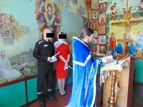 В храме исправительной колонии № 1  прошло венчание