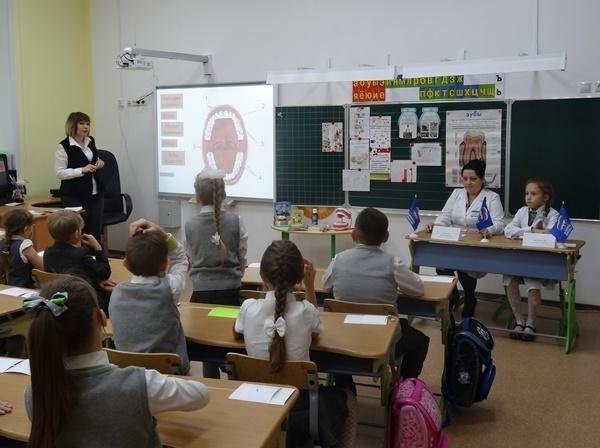 В школе Сколково-Тамбов детей учили чистить зубы