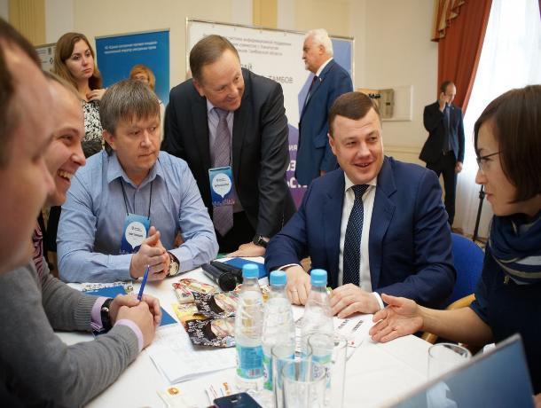 Губернатор открыл бизнес-сессию «Выбирай российское. Тамбов» в рамках делового центра Покровской ярмарки