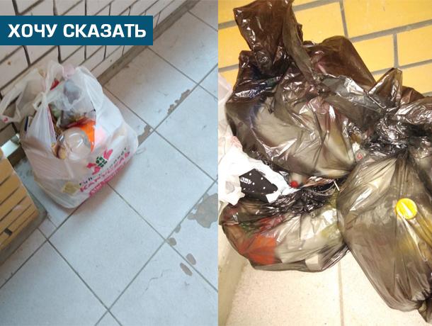Мусор в пакетах на общих балконах - будни новостроек на Сабуровской