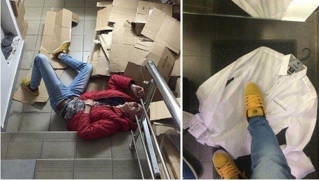 Руководство магазина молодежной одежды прокомментировало скандальные снимки, выложенные в сеть их сотрудниками