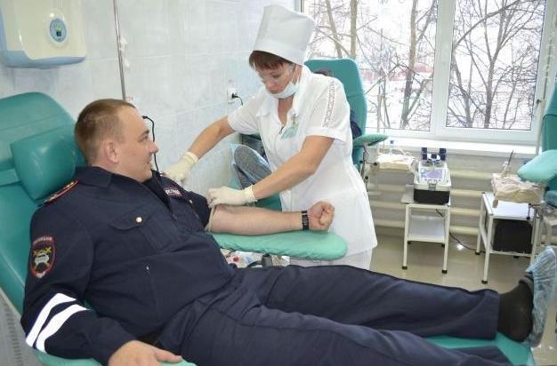 Сотрудники ГИБДД Тамбова стали донорами