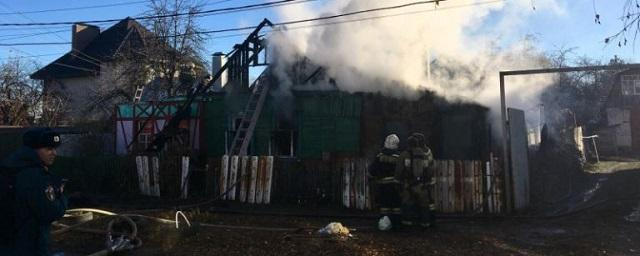 В Тамбове серьезный пожар уничтожил жилой дом