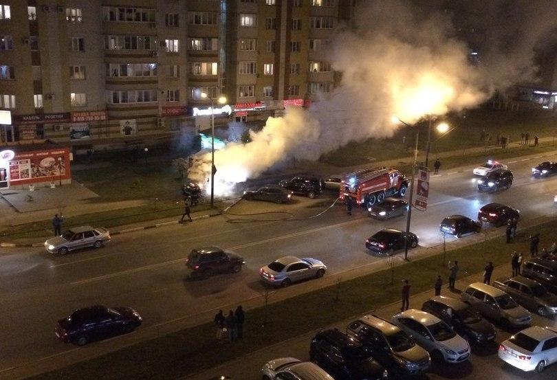Дом, сарай и автомобиль потушили тамбовские пожарные