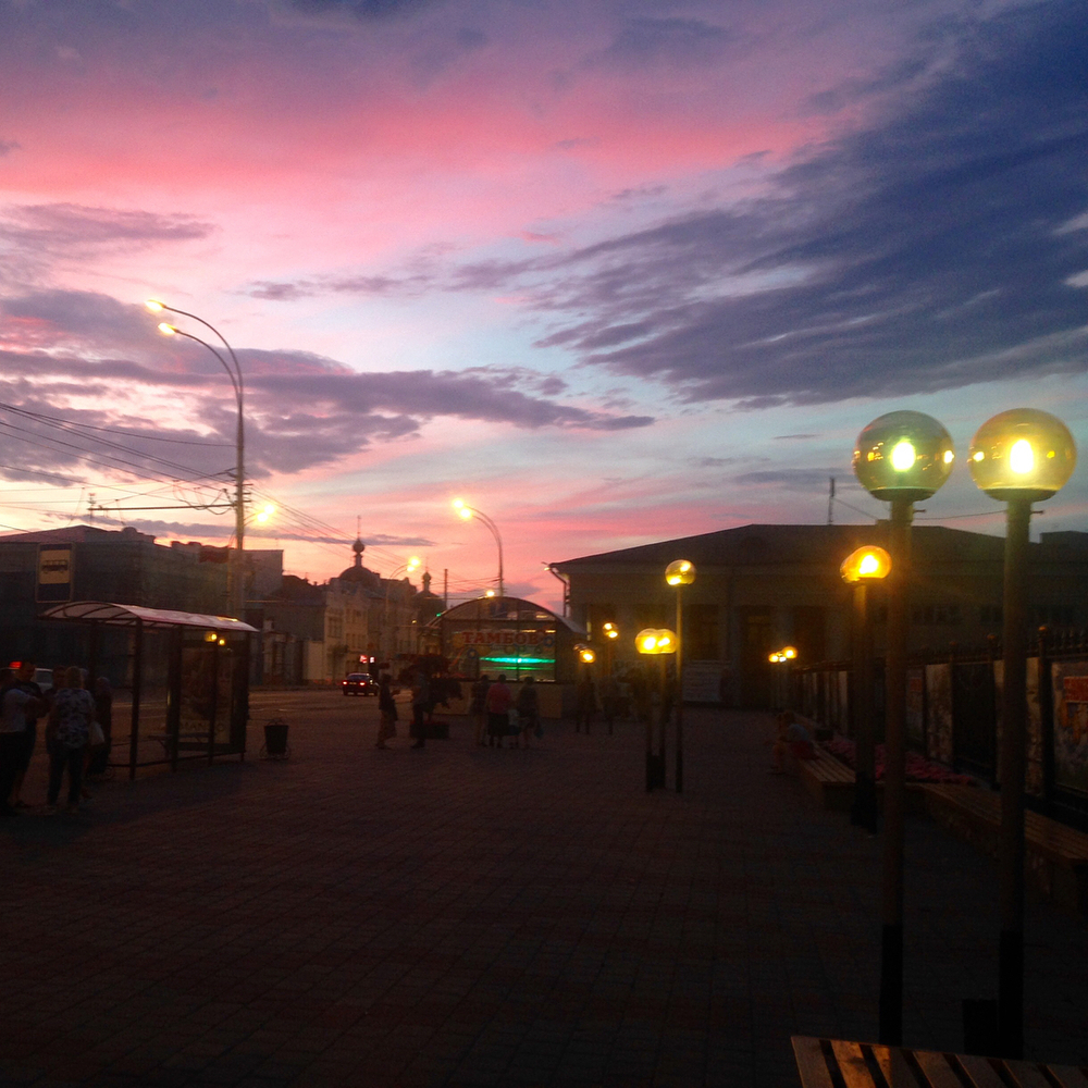 Краски воскресного заката в Тамбове превратили горожан в художников и философов