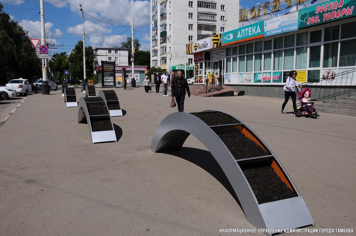 Вместо стихийного рынка на Динамо появились цветочные арки. Город преображается