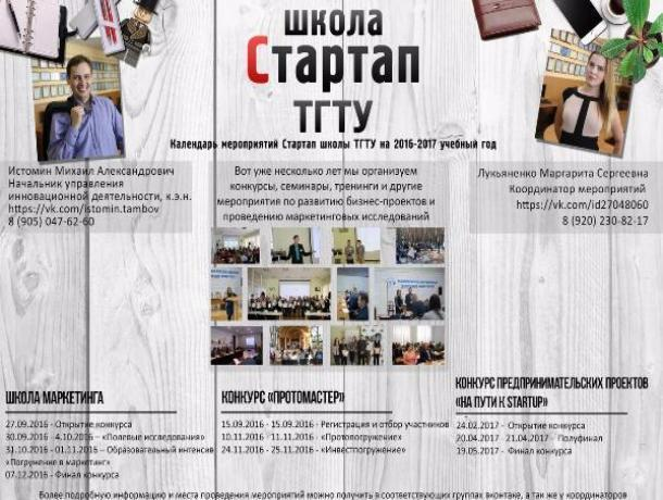 На базе бизнес-инкубатора ТГТУ открылась Школа маркетинга