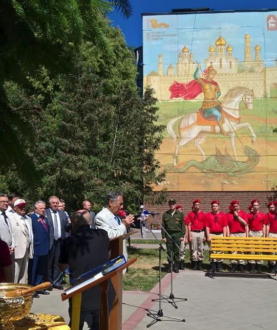 Пятнадцатиметровый Георгий Победоносец появился в Тамбове