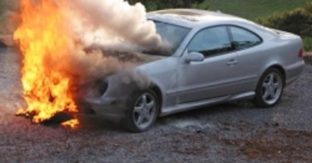 Житель Котовска лишился «Киа Рио» в огне