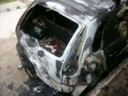 Недоброе утро: в Строителе дотла сгорела легковушка